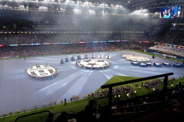 Cardiff, Millennium Stadium, apertura finale Champions League